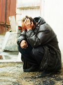image of homeless  - Homeless man - JPG