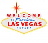 stock photo of las vegas casino  - Welcome to Las Vegas sign - JPG