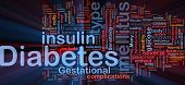 image of diabetes mellitus  - Background concept wordcloud illustration of diabetes medical disease glowing light - JPG