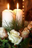 stock photo of unity candle  - unity candles - JPG