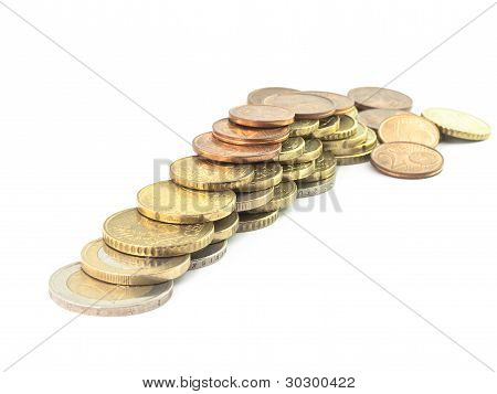Iisolated Coins Euro