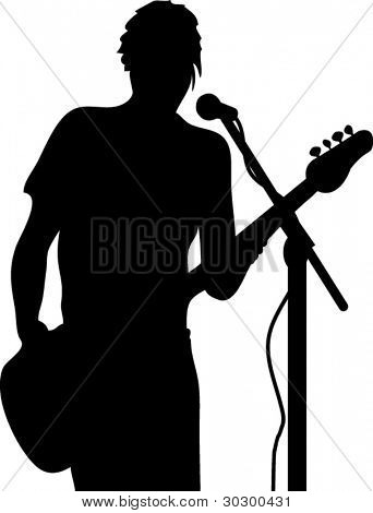 Vector Guitarist silhouette