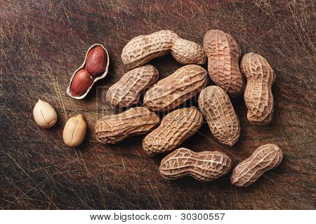 Peanuts On Wood.