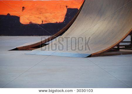 Skate Ramp With Mural