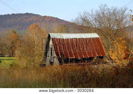Aging Barn In Field