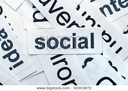 Social Word Cloud