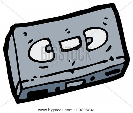 retro videotape cartoon