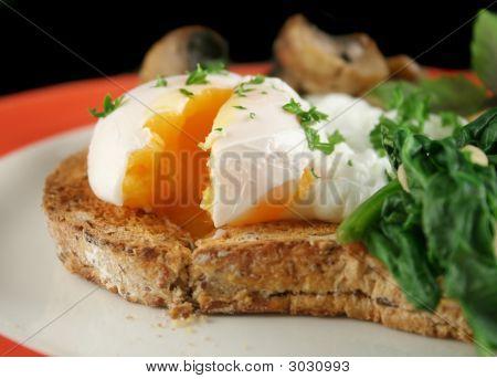 Sliced Poached Egg