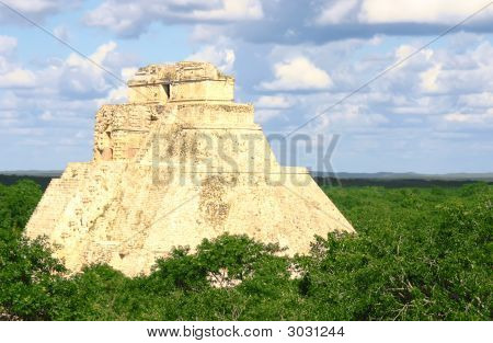 Maya Pyramid At Uxmal