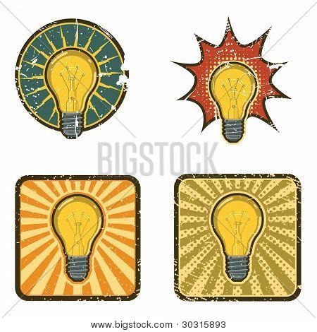 Vector Light Bulb Icons