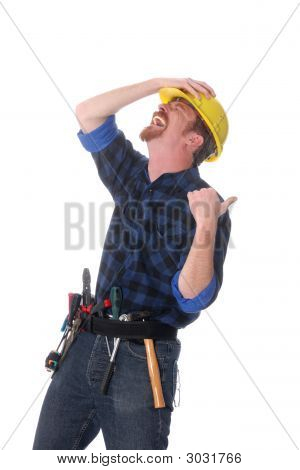 Construction Worker Tittering