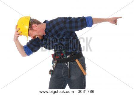Construction Worker Tittering