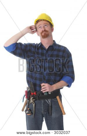 Construction Worker Thinking