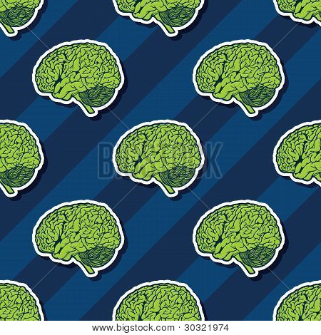 Seamless Vector Brain Pattern