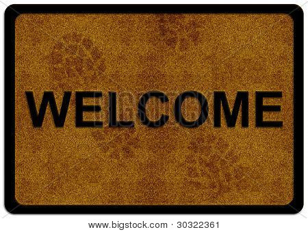 Welcome Cleaning Foot Carpet