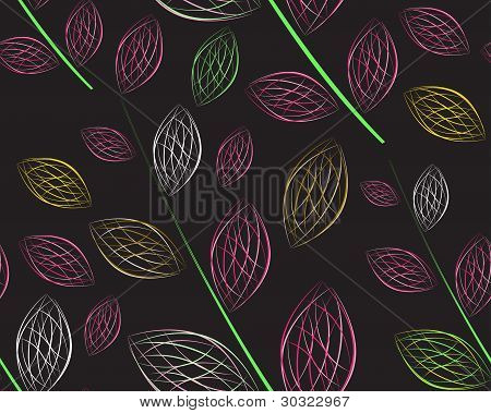 A Seamless Leaf Pattern