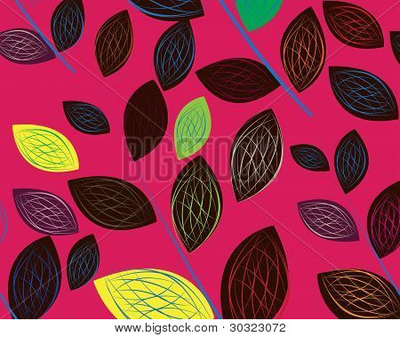A Seamless Leaf Pattern