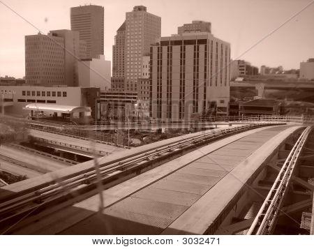 modern city clean train or monotrail