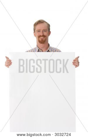 Man With Blank Placard