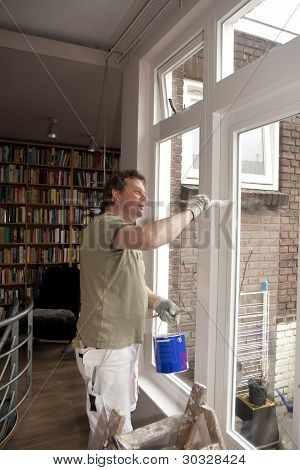 House painter at work