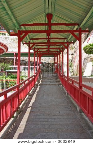 Chinese Temple Walkway