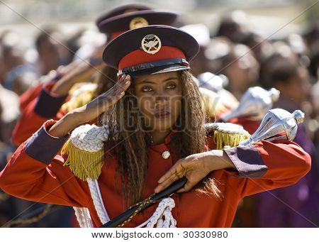 Baton Barer On Ceremony At The World Aids Day Event In Fitche