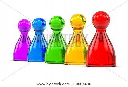 Rainbow Game Figures