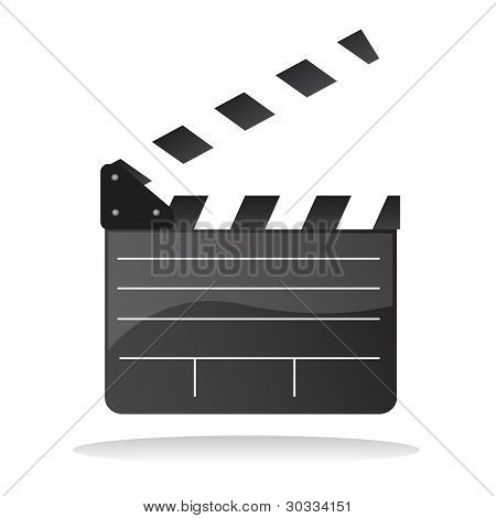 clapperboard vector isolated