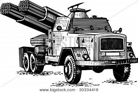 Reactive artillery
