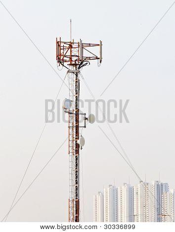 Poste de antena de teléfono