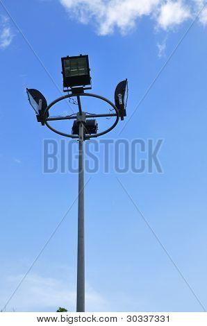 Light Pole On Blue Sky