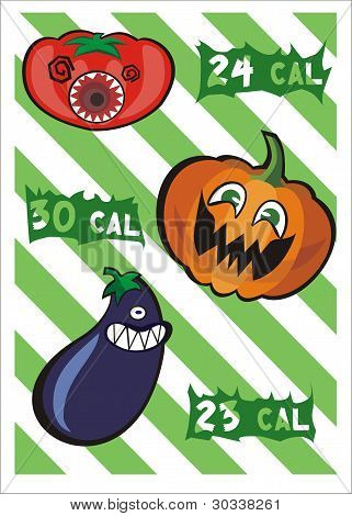 Monster Vegetables and its Calories