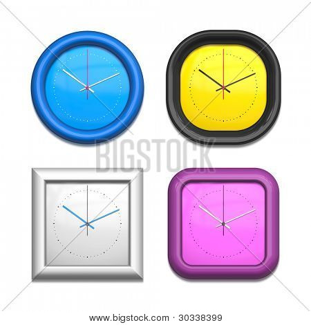 Una imagen de un cuatro diversos relojes