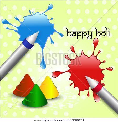 vector holi pichkari colorful splash