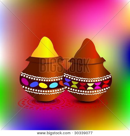 colorful holi gulal vector design
