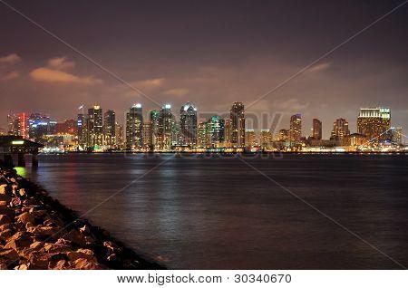 Harbor Island night view