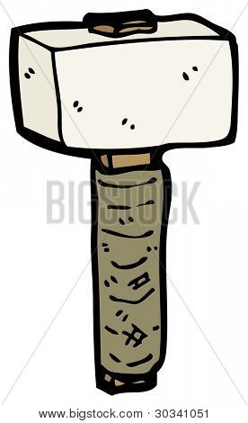 cartoon mallet