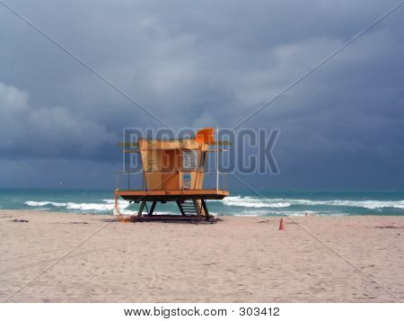 Stormy Lifeguard Tower