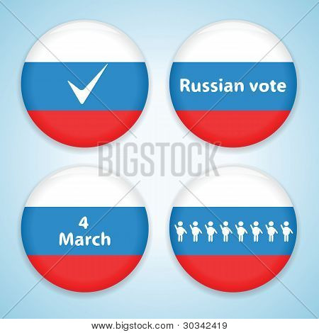 Set of russian presidential election badges