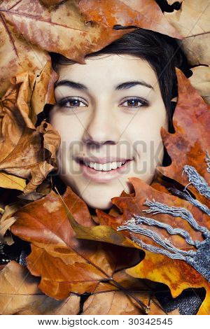Surrounded By Leaves