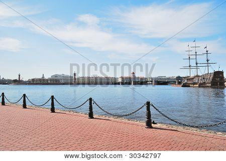 St. Petersburg. View Of  Neva And  Vasilevsky Island
