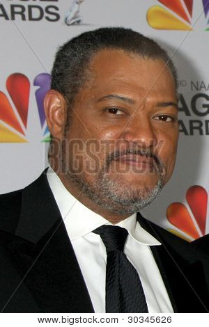 LOS ANGELES - FEB 17:  Laurence Fishburne, James Pickens Jr. arrives at the 43rd NAACP Image Awards at the Shrine Auditorium on February 17, 2012 in Los Angeles, CA
