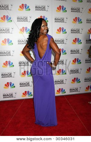LOS ANGELES - FEB 17:  Carmelita Jeter arrives at the 43rd NAACP Image Awards at the Shrine Auditorium on February 17, 2012 in Los Angeles, CA