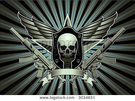 Skull Machine Gun Wings