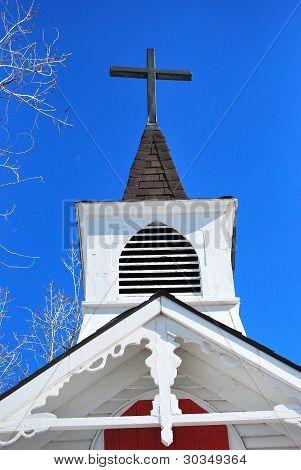 Church steeple.