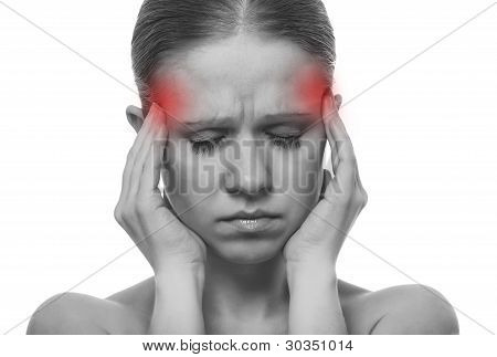 Woman Having A Migraine