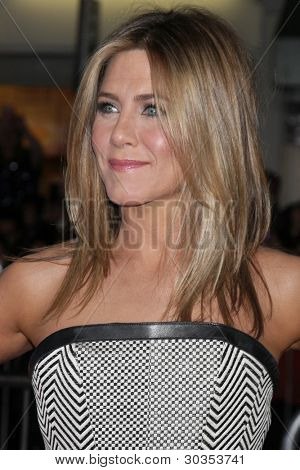 "LOS ANGELES - FEB 16:  Jennifer Aniston arrives at the ""Wanderlust"" World Premiere at the Village Theater on February 16, 2012 in Westwood, CA"