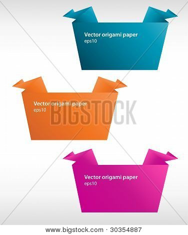 Vector set of origami paper