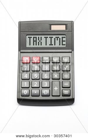 Business Tax Time on Calculator