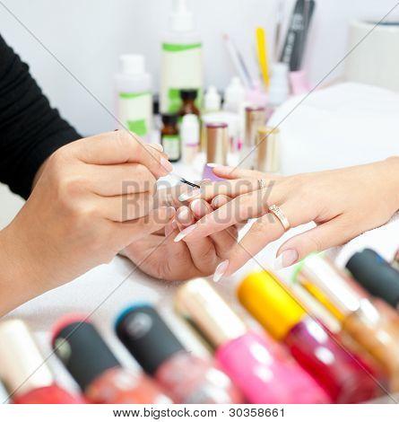 Manicure Procedure, Closeup